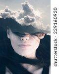 double exposure portrait of... | Shutterstock . vector #229160920