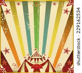 fantastic color circus square... | Shutterstock .eps vector #229162534