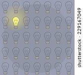 pattern bulbs backgrounds.... | Shutterstock .eps vector #229167049