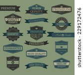 set of vintage label   quality... | Shutterstock .eps vector #229172476