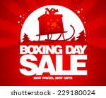 gift box on a sled  boxing day... | Shutterstock .eps vector #229180024