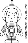 a cartoon boy astronaut in a...   Shutterstock .eps vector #229183690