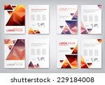 set of modern abstract brochure ... | Shutterstock .eps vector #229184008