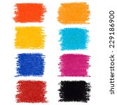 set of pastel crayon spots