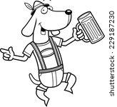 a happy cartoon german dog... | Shutterstock .eps vector #229187230