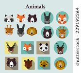 animals avatars set