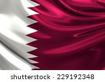 flag of qatar. | Shutterstock . vector #229192348