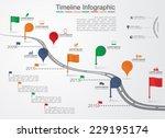 timeline infographic template... | Shutterstock .eps vector #229195174