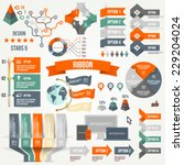infographics set with options.... | Shutterstock .eps vector #229204024