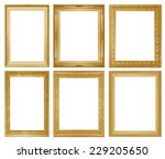 gold picture frame | Shutterstock . vector #229205650