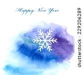 bright blue watercolor...   Shutterstock .eps vector #229206289