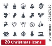 christmas icons  winter vector... | Shutterstock .eps vector #229207150
