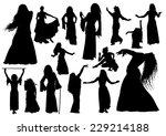 Oriental Dancers Silhouettes