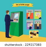 atm machine. payments and... | Shutterstock .eps vector #229217383