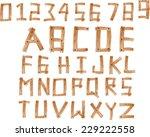 illustration of wood alphabet a ...   Shutterstock .eps vector #229222558