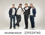 group of handsome men | Shutterstock . vector #229224760