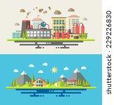 modern vector flat design... | Shutterstock .eps vector #229226830