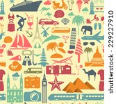 travel background. vacations.... | Shutterstock .eps vector #229227910