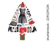 illustration of a christmas... | Shutterstock . vector #229229134