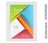 flyer design. vector | Shutterstock .eps vector #229234060