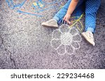 close up of little girl in... | Shutterstock . vector #229234468