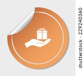 gift on his hand web icon.... | Shutterstock .eps vector #229240360