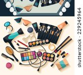 workspace for makeup. flat... | Shutterstock .eps vector #229245964