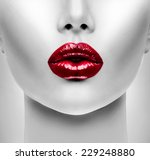 sexy lips. beauty red lip... | Shutterstock . vector #229248880