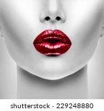 sexy lips. beauty red lip... | Shutterstock . vector #229248880