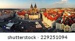prague  july   21 prague square ... | Shutterstock . vector #229251094