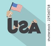 made in usa single badge vector ... | Shutterstock .eps vector #229260718