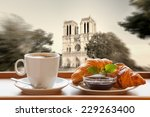 Coffee With Croissants Against...