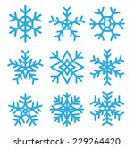 Snowflakes Set.vector...