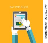 pay per click flat concept for... | Shutterstock .eps vector #229267699
