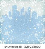background with snow flakes and ... | Shutterstock .eps vector #229268500