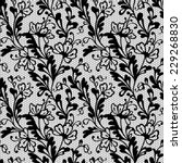 black lace vector pattern.... | Shutterstock .eps vector #229268830