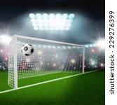 soccer ball flies into the goal | Shutterstock . vector #229276399