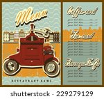 coffee and tea cards design.... | Shutterstock .eps vector #229279129