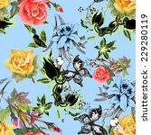 beautiful watercolor flowers... | Shutterstock .eps vector #229280119