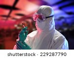 scientist with protective... | Shutterstock . vector #229287790