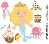 mermaid vector illustration | Shutterstock .eps vector #229288159