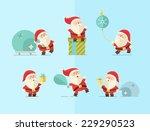 merry christmas. vector winter... | Shutterstock .eps vector #229290523