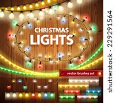 christmas lights decorations... | Shutterstock .eps vector #229291564