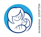mother holding her baby | Shutterstock .eps vector #229297534