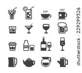 drink icon set | Shutterstock .eps vector #229299526