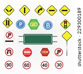 image of various road signs... | Shutterstock .eps vector #229300189