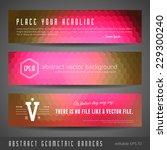 set of three vibrant vector...   Shutterstock .eps vector #229300240