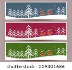 merry christmas banners set... | Shutterstock .eps vector #229301686
