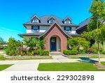 big custom made luxury house... | Shutterstock . vector #229302898