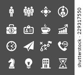 business strategy icon set ... | Shutterstock .eps vector #229317550